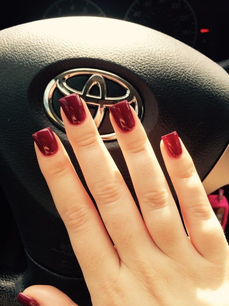 Burgundy colored nails for fall! In love with them! - Yelp
