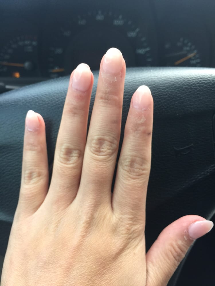 This was from the first time Kim did my nails. Horrible! Not filed ...