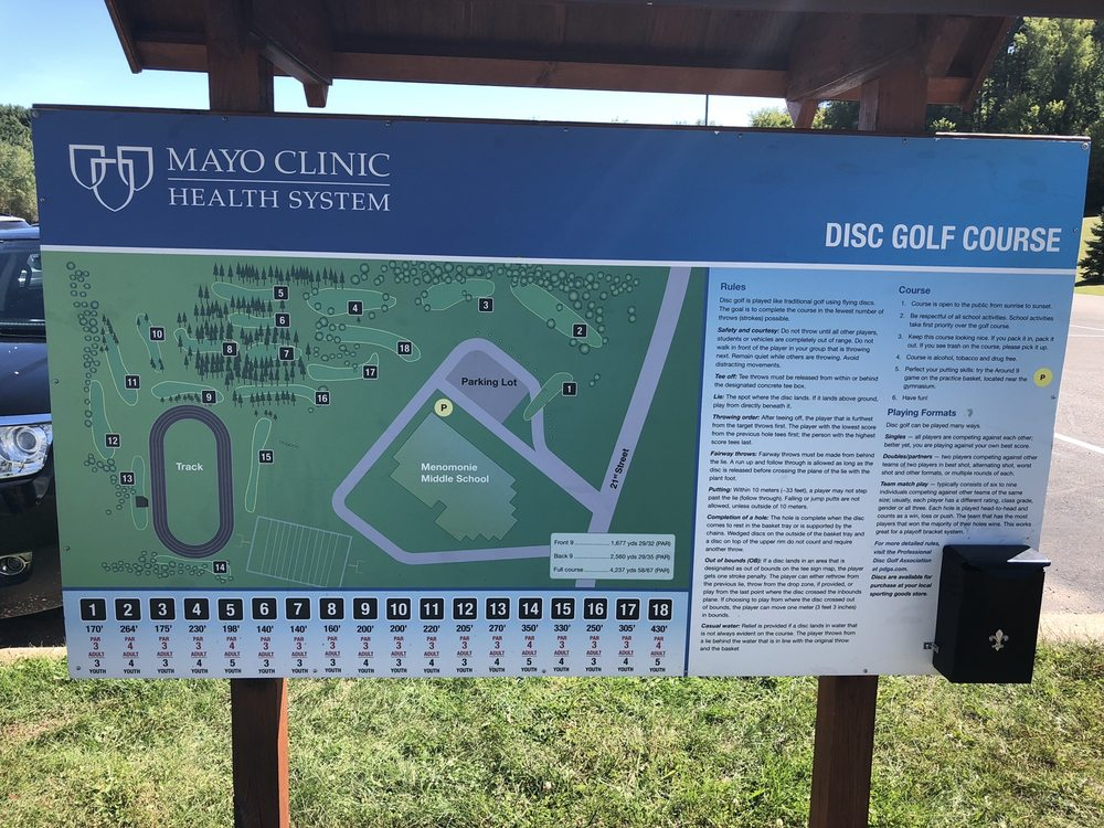 Mayo Clinic Health System Disc Golf course: 920 21st St SE, Menomonie, WI