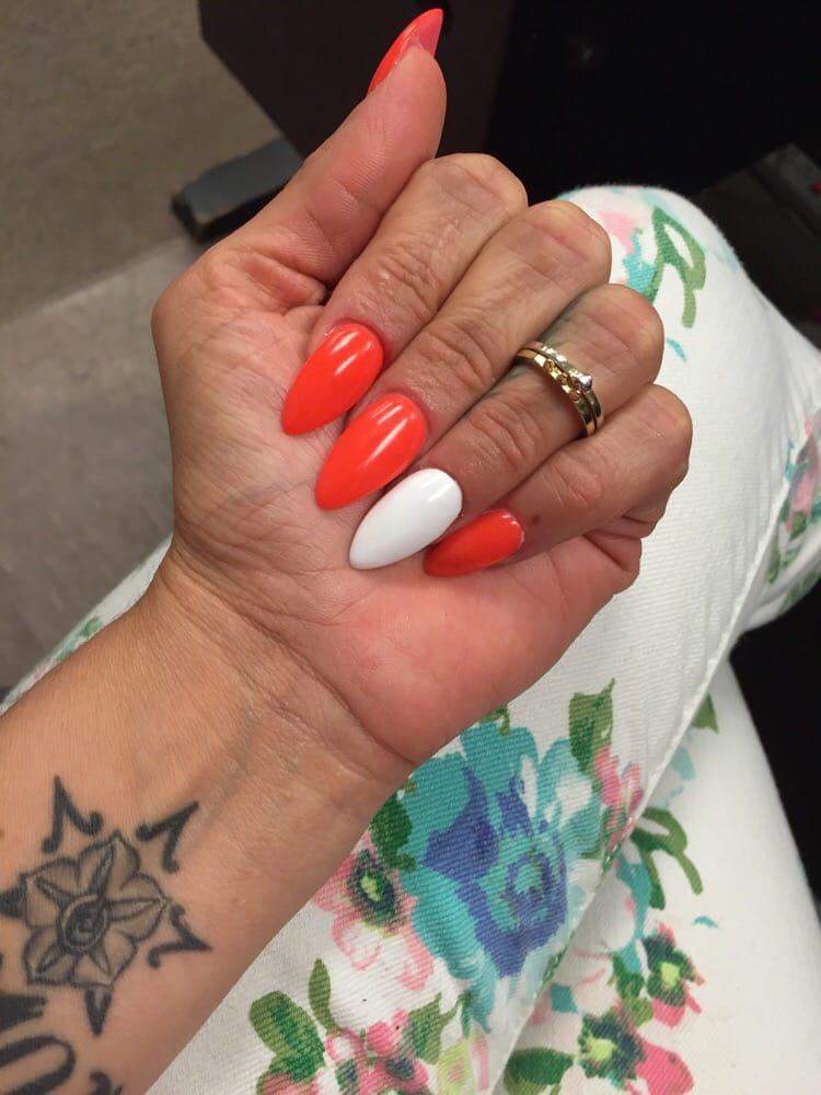 pics for gt stiletto nails orange