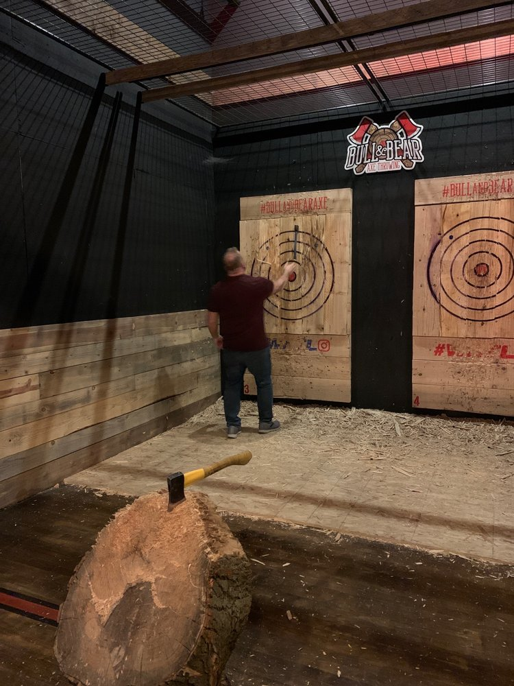Bull & Bear Axe Throwing: 299 Montgomery Rd, Montgomery, IL