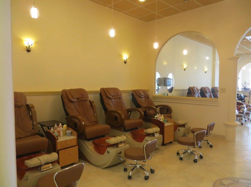 Aqua nails spa nail salons 18154 blanco rd san antonio tx phone number yelp for Nail salon winter garden village