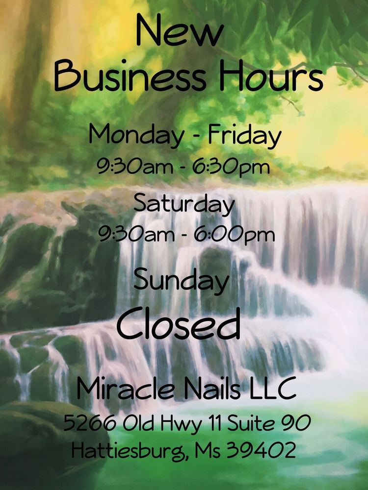Miracle Nails: 5266 Old Hwy 11, Hattiesburg, MS