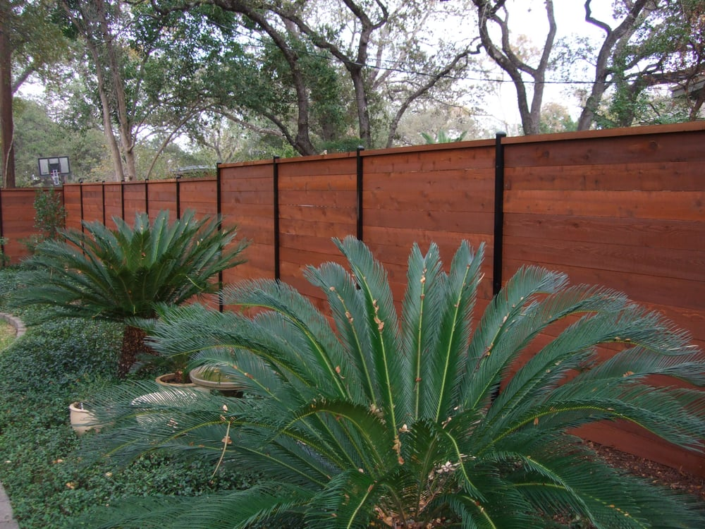 Fence Stained By Great Dane Fence Staining With Wood