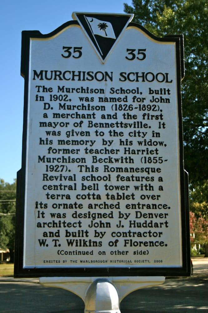 Murchison School: S Marlboro St, Bennettsville, SC