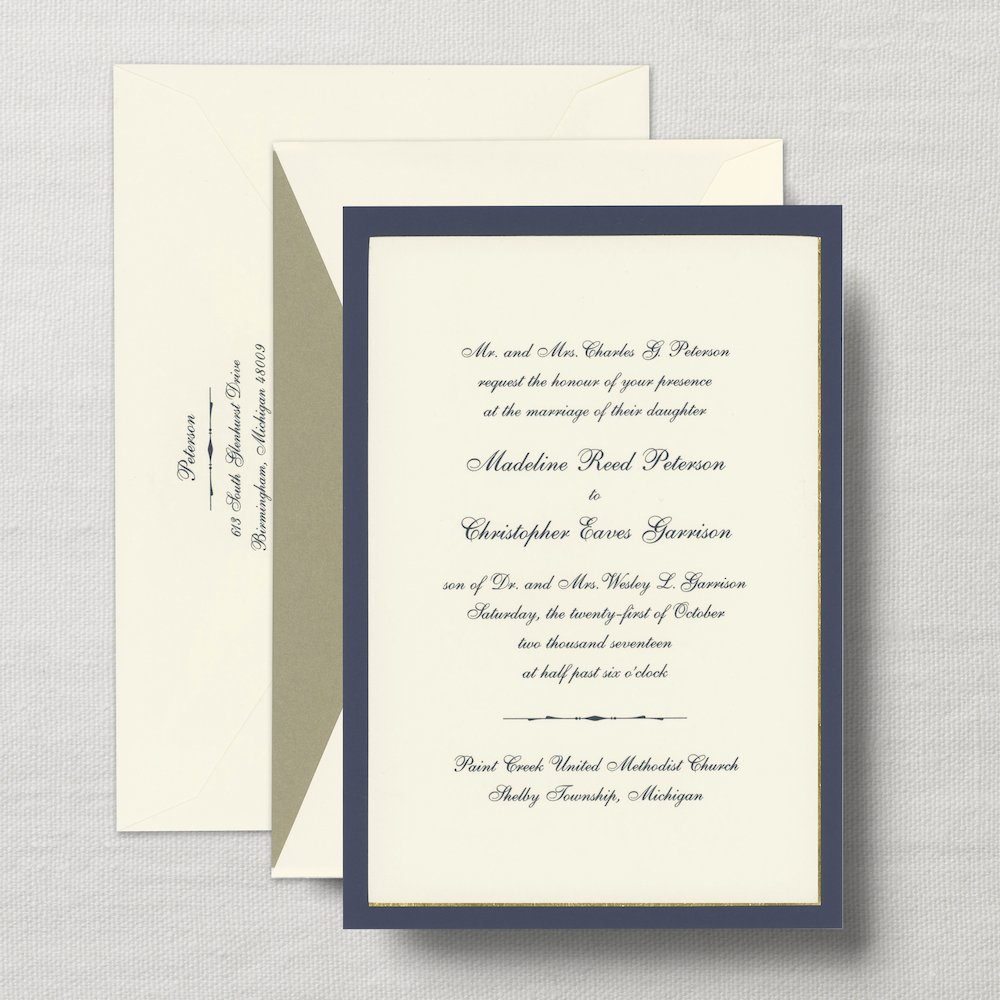 Crane Wedding Invitation