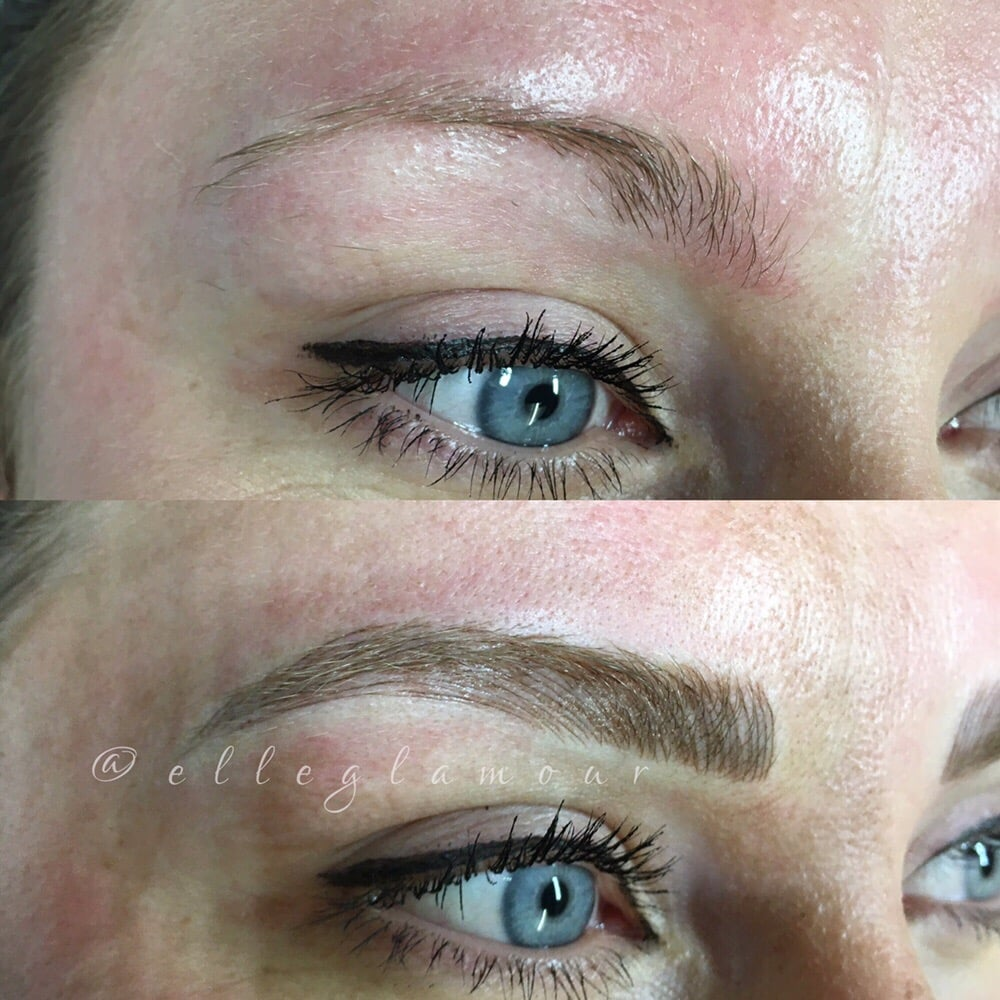 Microblading Eyebrows From Thin And Sparse One To Full Arch Yelp