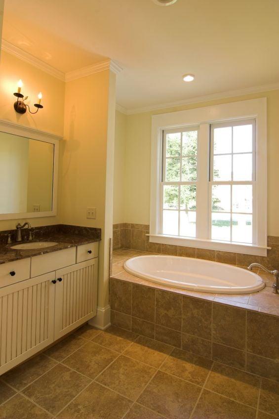 Bathroom remodel full bathroom remodel with porcelain for Bathroom remodel yelp