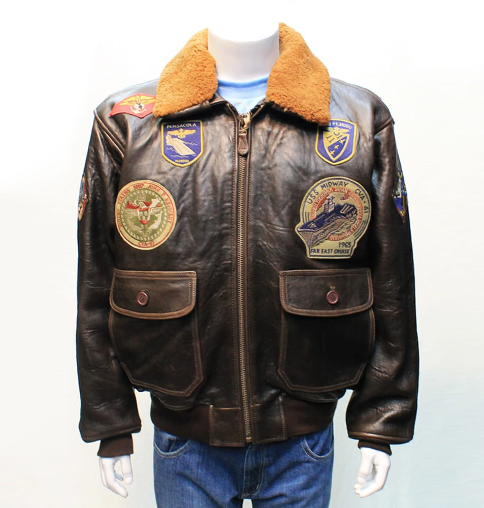 Schott mens leather flight jacket with patches yelp