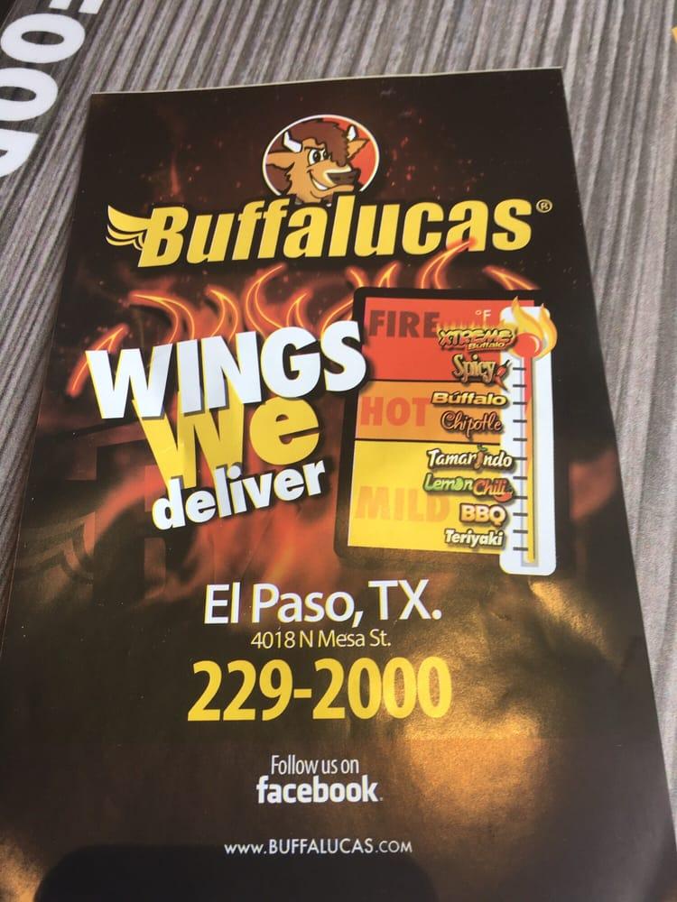 Buffalucas 26 photos 22 reviews chicken wings 4018 for Italian el paso tx