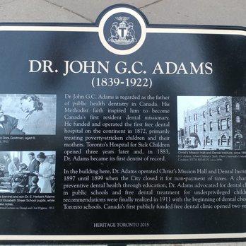 Dr  John G C  Adams Historical Marker - Landmarks