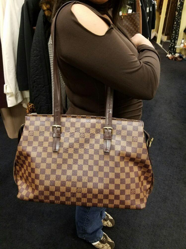 1e4965fee6cb1 Louis Vuitton damier ebene Chelsea large shoulder bag - Yelp