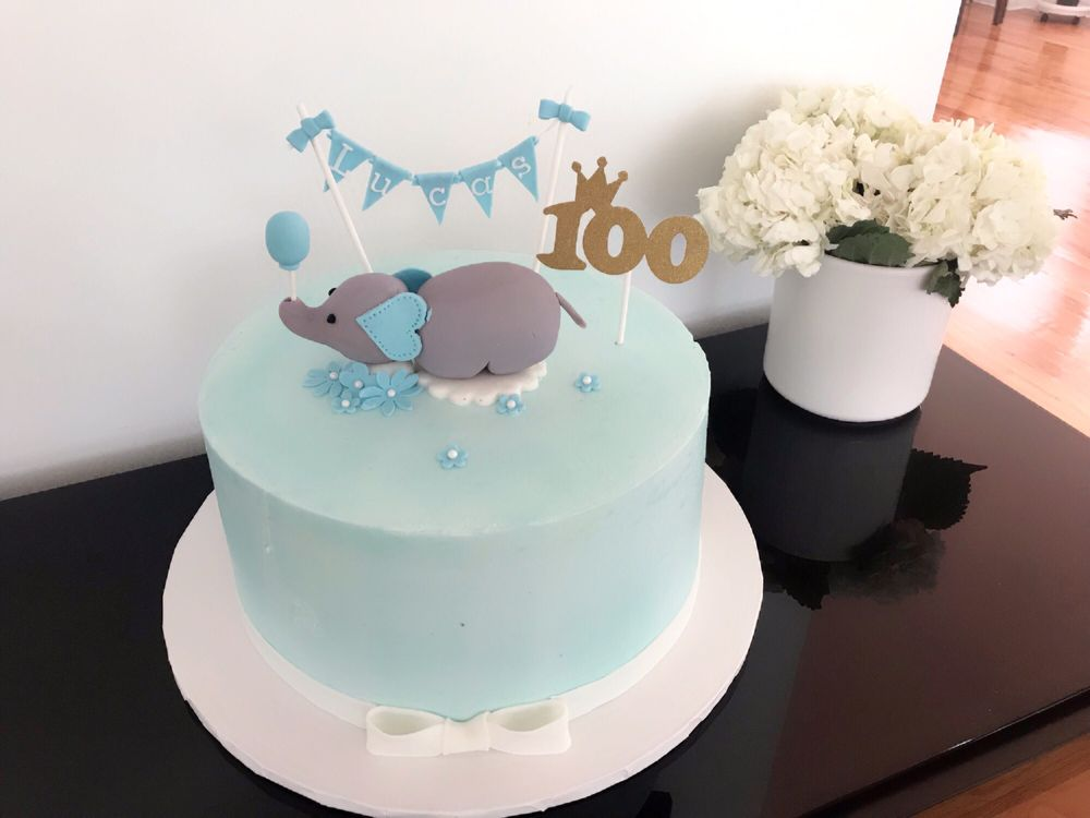 Another Great Cake Design For Our Son 100th Day Amazingly Delicious