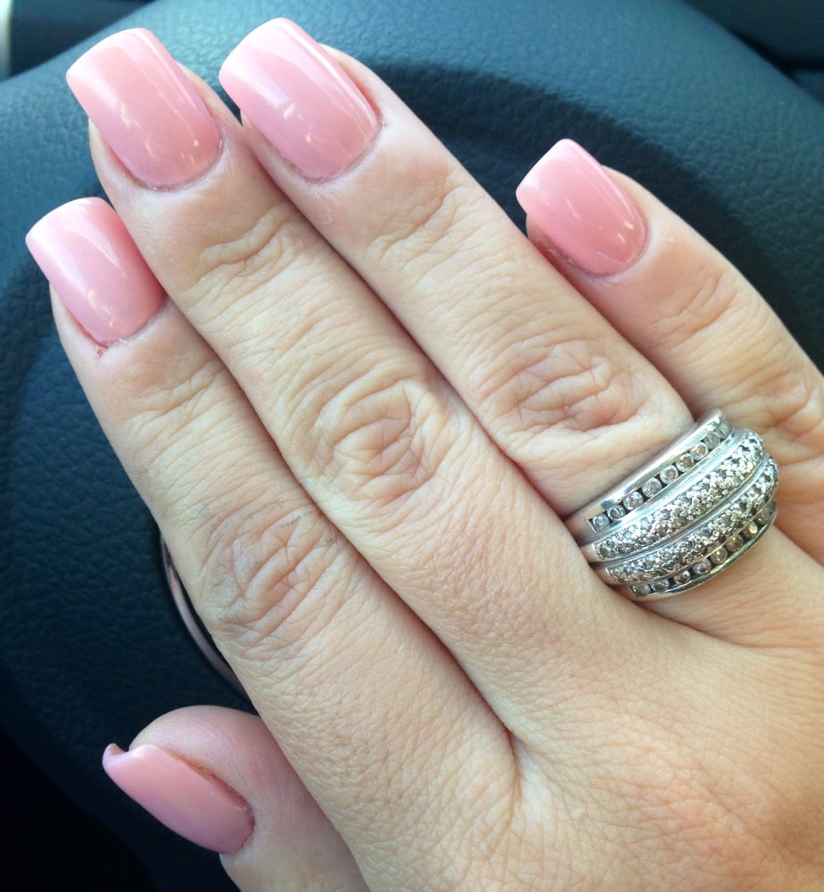 Natural Looking Acrylics With Harmony Gel Color 1 Yelp