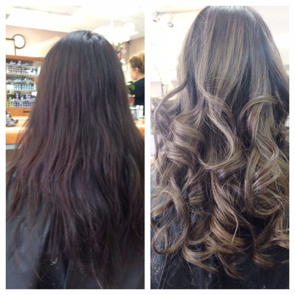 Before and after such a crazy difference i love kim she for Allure hair salon