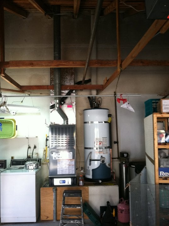 American Standard Furnace Up Flow In Garage With Whole