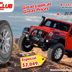 Photo of Tire Club - El Paso, TX, United States. Get 4 22x10
