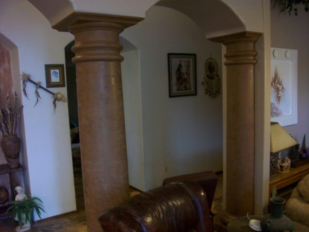 Venetian plaster pillars scottsdale painter phoenix painter house painter faux painter for Exterior painting scottsdale az