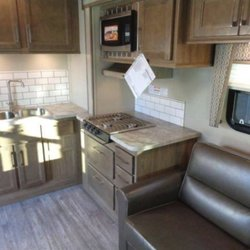 Photo Of Rent A Fun RV   Post Falls, ID, United States. Kitchen. Kitchen U0026 Jack  Knife Sofa