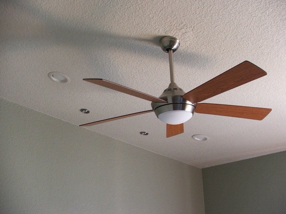 Ceiling fan and recessed lighting addition. - Yelp