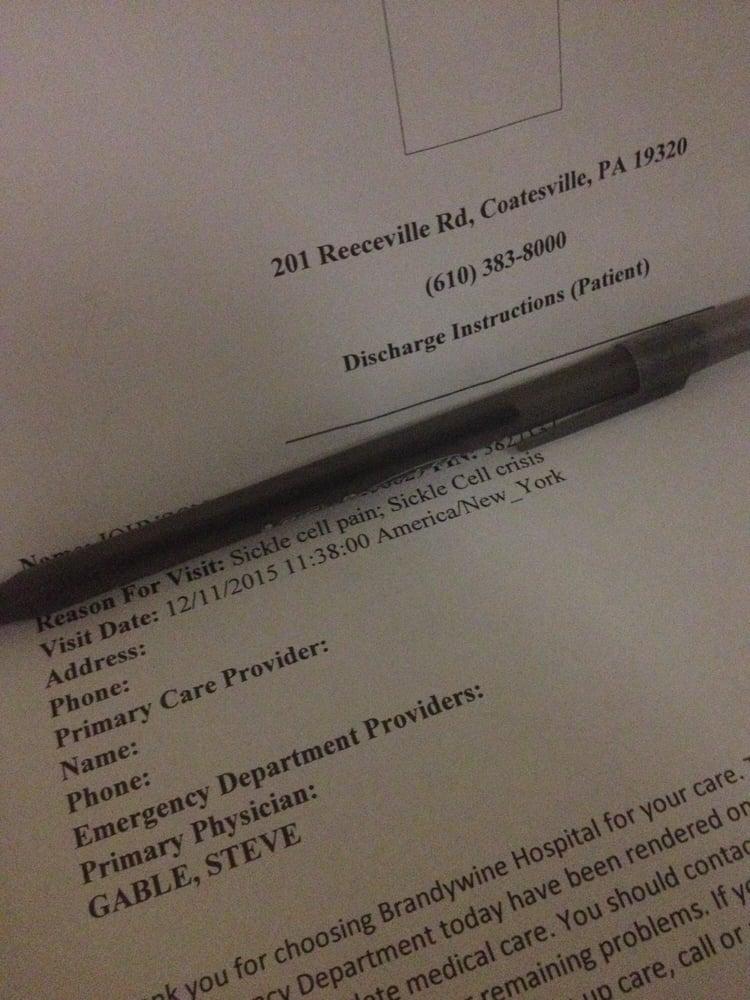 Brandywine Hospital: 201 Reeceville Rd, Coatesville, PA