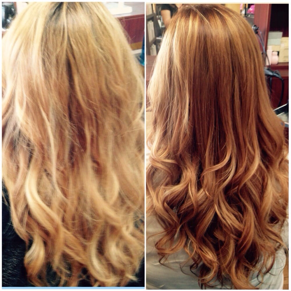 We Put In A Dark Tobacco With Bright Blonde Color By Loree Yelp