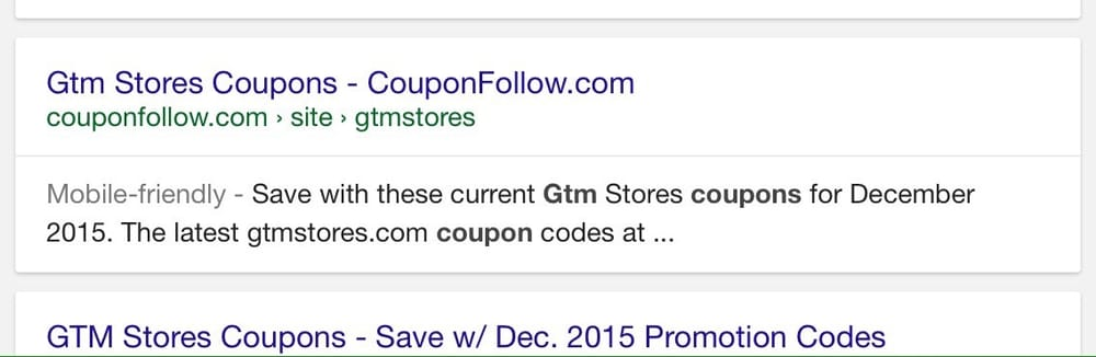 Gtm discount store coupon