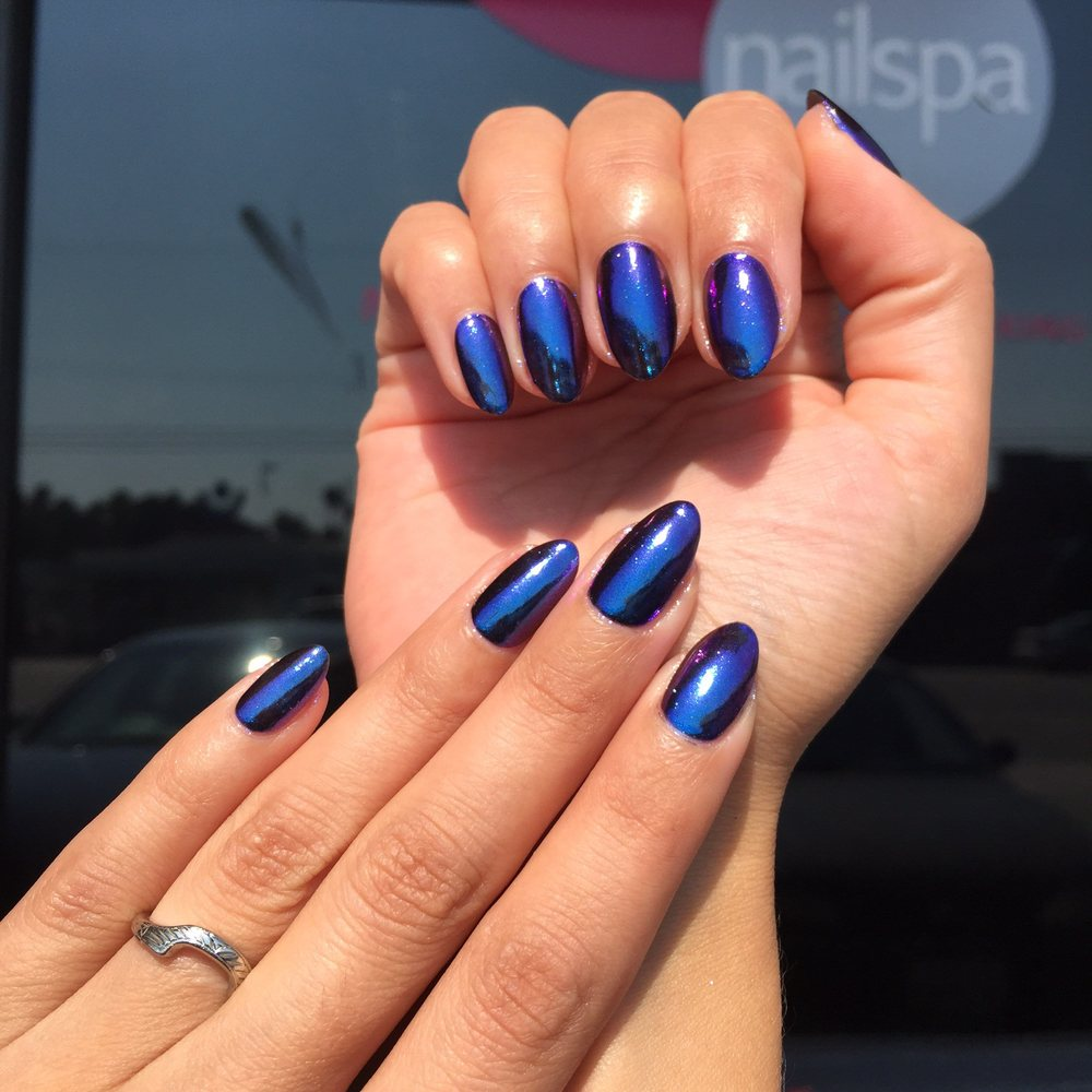 Mobile Nail Spa Los Angeles: Chrome Nails