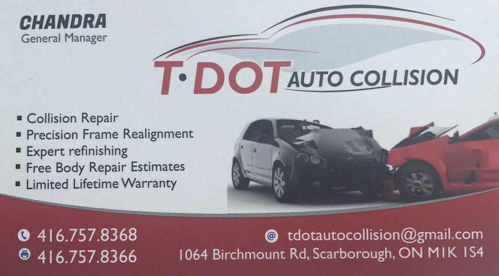 T Dot Auto Collision - Body Shops - 1064 Birchmount Road ...
