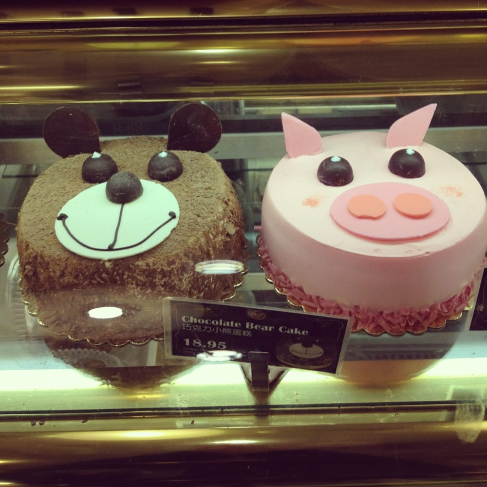 Chocolate Bear Cake And Strawberry Piggy Cakefinitely Too Cute