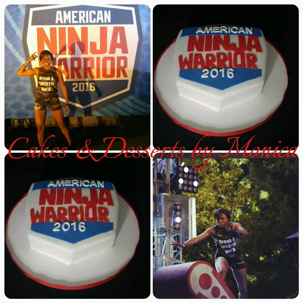 American Ninja Warrior Cake for fitness instructor of
