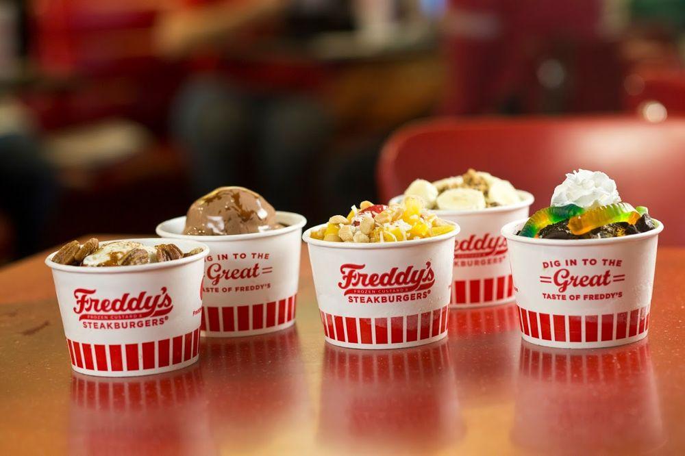 Freddy's Frozen Custard & Steakburgers: 7419 Dodge St, Omaha, NE