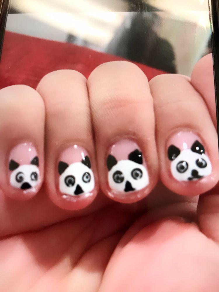 Cute Panda Nails By Nicky Yelp