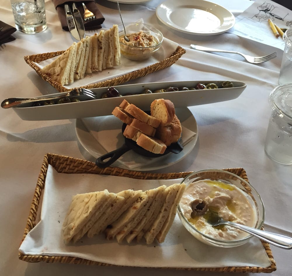 Hummus + Marinated Olives + Spicy Feta Dip - Yelp