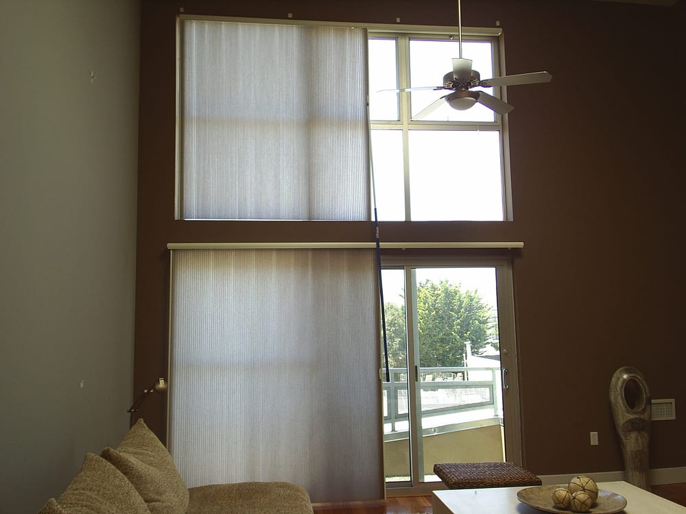 Hunter Douglas Vertiglide Duette Shades Great For Wide