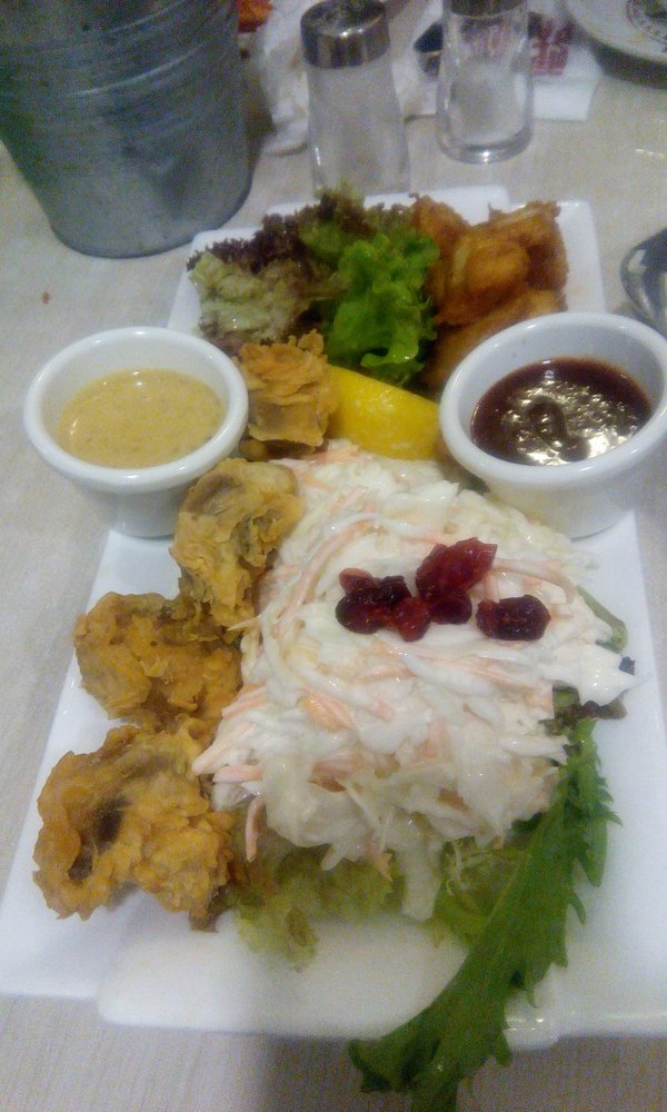 Quad delights comes with coleslaw fried mushrooms for Manhattan fish and chicken menu