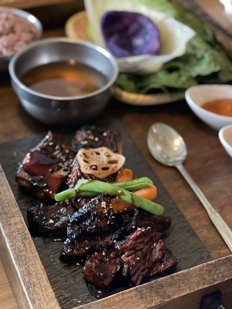 Food from Mokban Korean Bistro