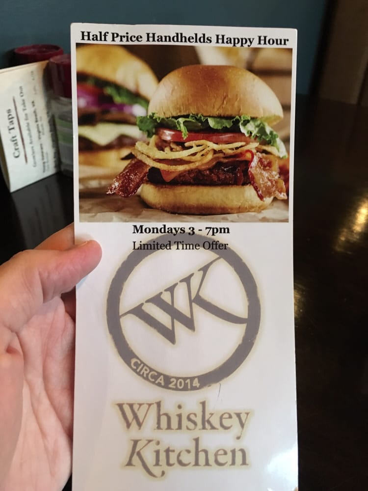 Happy hour monday 3 7pm yelp for Whiskey kitchen virginia beach