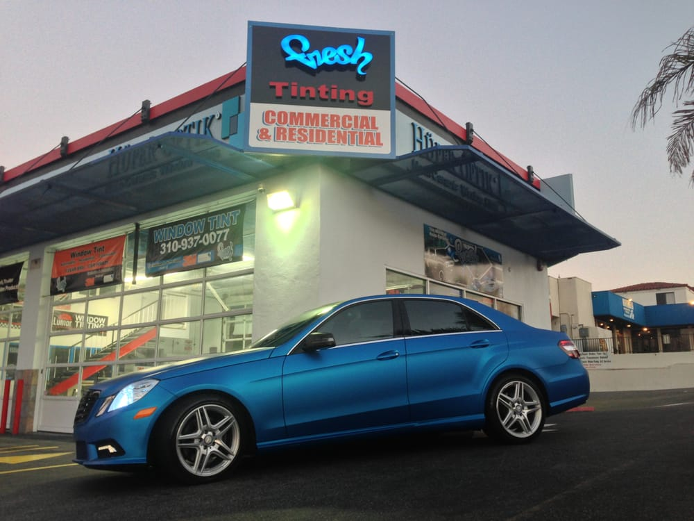 2011 mercedes benz e class matte metallic blue 3m 1080 for Mercedes benz blue window tint