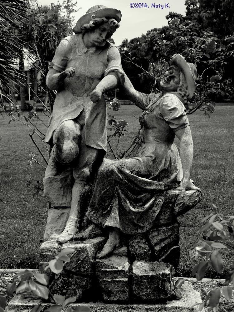 Statues Of Pastoral Scenes In The Rose Garden Yelp