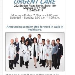 Winthrop - Urgent Care - 222 Station Plz N, Mineola, NY