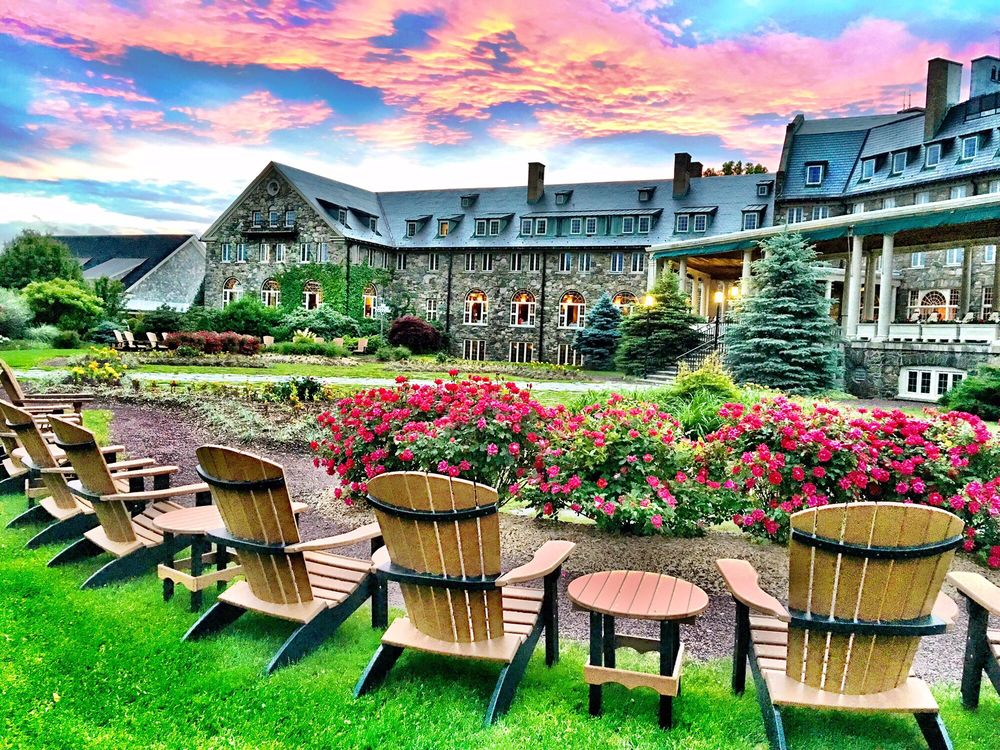 The South Porch and Garden of Skytop Lodge is a beautiful spot to ...