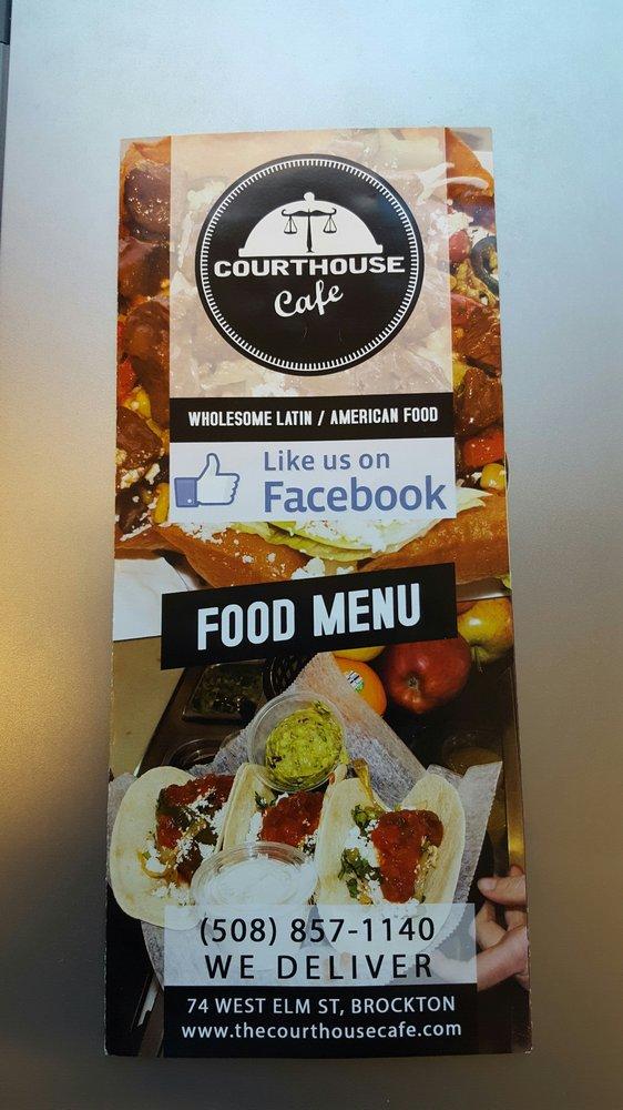 Courthouse Cafe Brockton Menu
