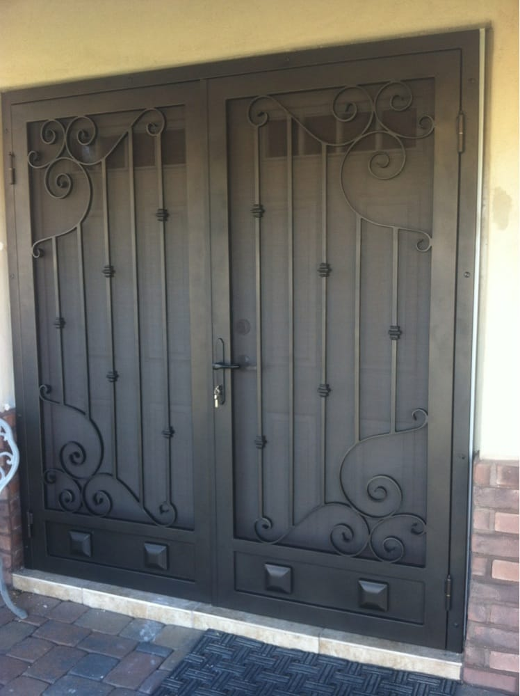 Aluminum Security Doors : One of our many custom double security screen doors yelp