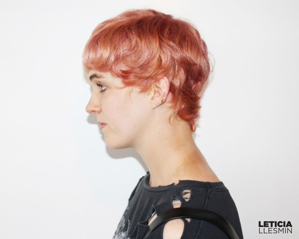 Rose Gold Haircolor And Pixie Haircut Yelp