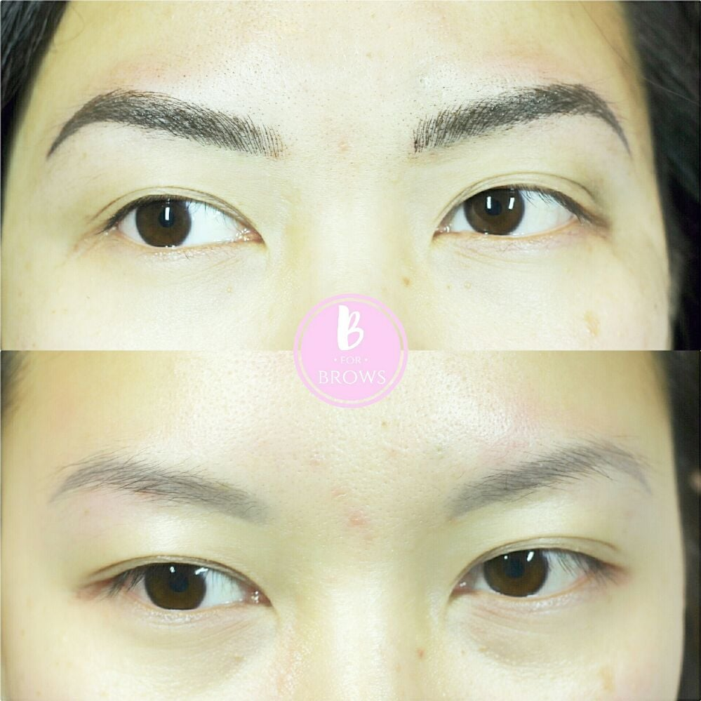 Client Had Previously Tattooed Eyebrows That Faded To A Light Gray