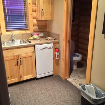 Photo Of Pocahontas Cabins   Jasper, AB, Canada. Kitchen