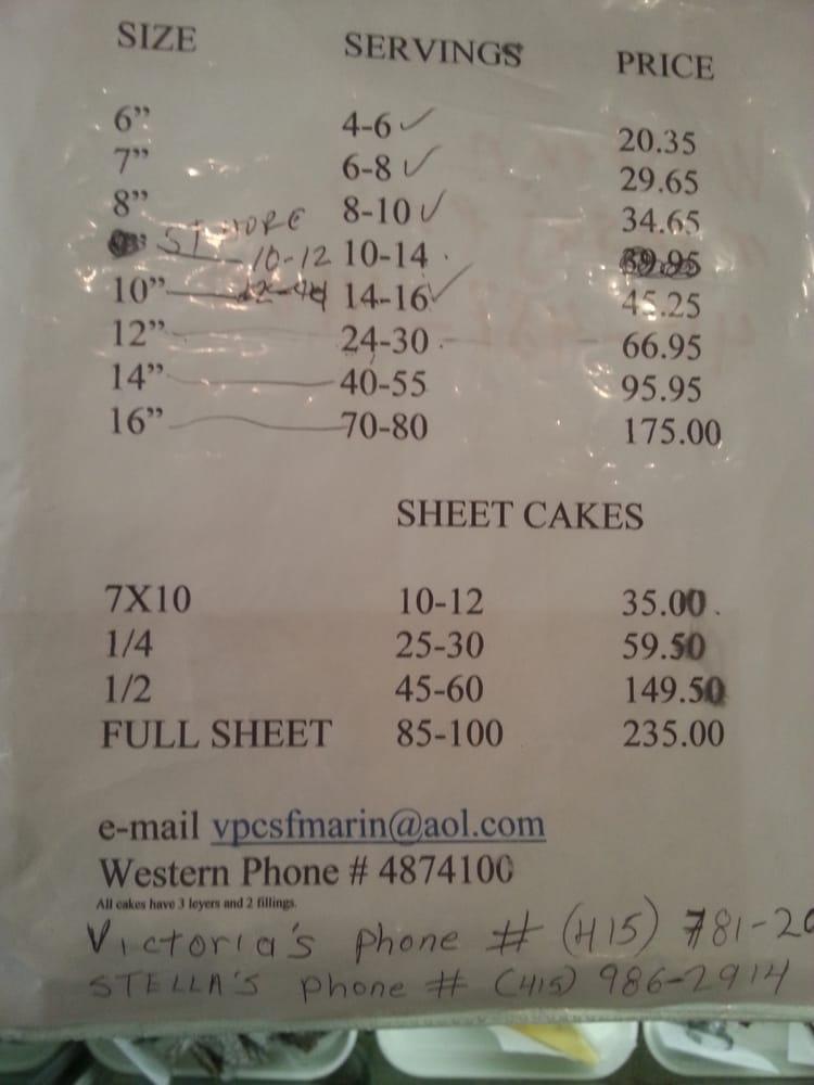Sheet Cake Prices Price Of 1 2 Sheet Doesn T Equal Twice