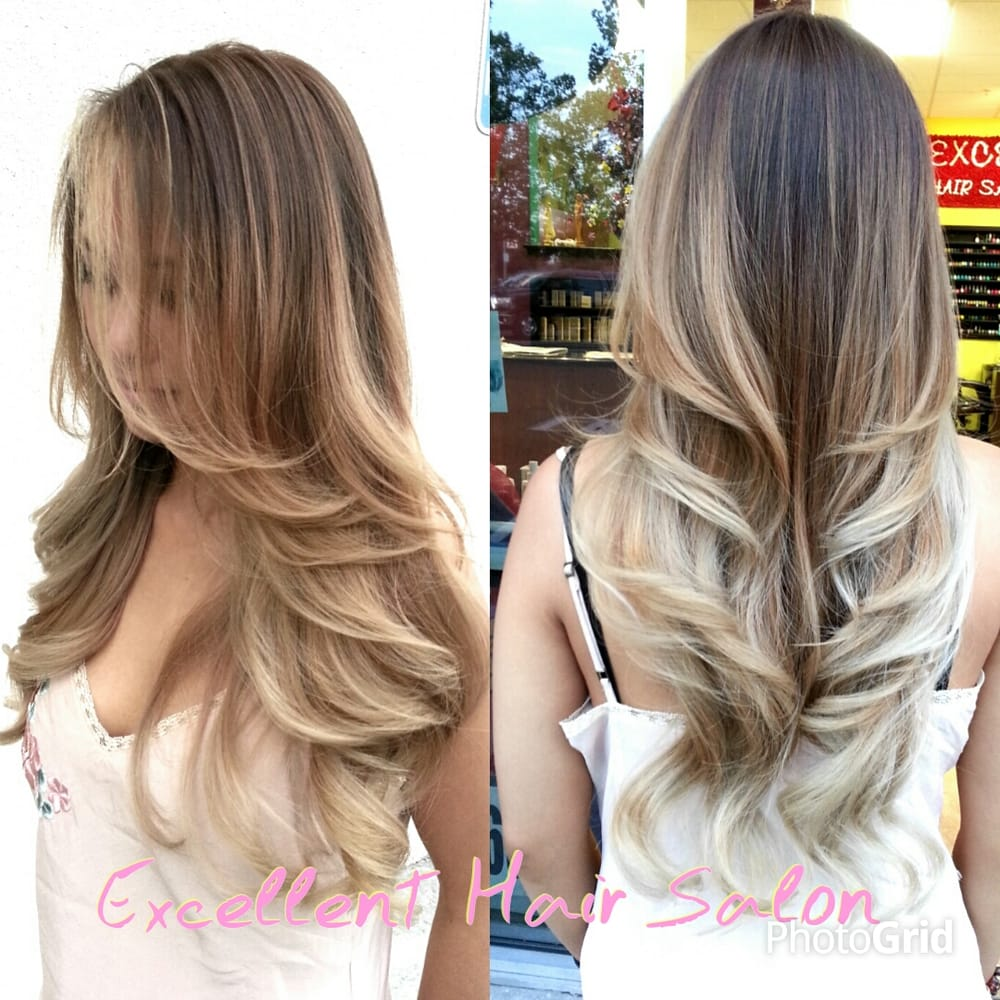 ombre balayage haircut and style by kim yelp. Black Bedroom Furniture Sets. Home Design Ideas