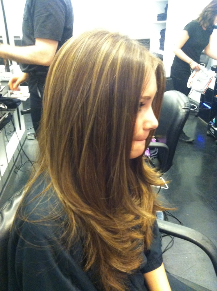 Once A Reddish Brown And Now A Light Golden Blonde Highlights By